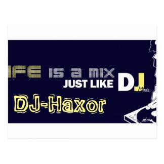 Tarjetas DJ-Haxor Postales