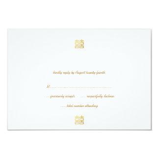 """Tarjetas dobles de RSVP de las linternas de la Invitación 3.5"""" X 5"""""""