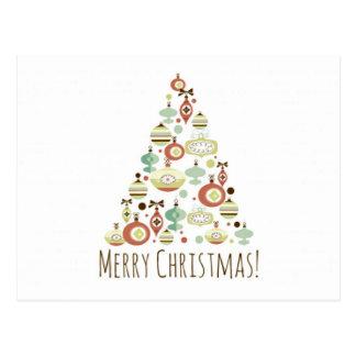 Tarjetas dulces del árbol de navidad postal