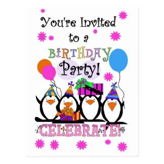 Tarjetas e invitaciones tontas de cumpleaños de tarjetas postales