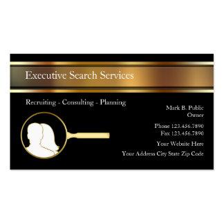 Tarjetas ejecutivas del negocio de representación  tarjetas personales