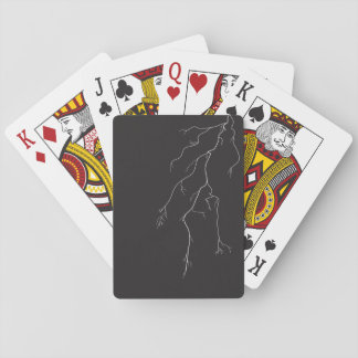 Tarjetas eléctricas cartas de póquer