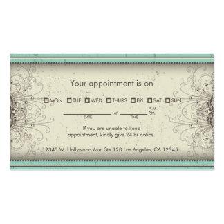 Tarjetas elegantes de la cita del damasco del esta tarjetas de visita