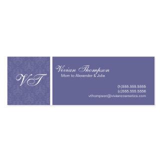Tarjetas elegantes de la mamá tarjetas de visita mini