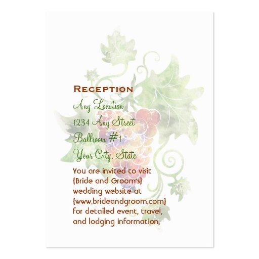 Tarjetas elegantes de la recepción de la acuarela  tarjetas de visita grandes