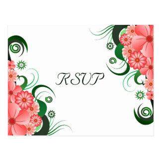 Tarjetas elegantes de la respuesta de RSVP del Tarjeta Postal