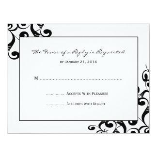 """Tarjetas elegantes de RSVP que se casan Invitación 4.25"""" X 5.5"""""""