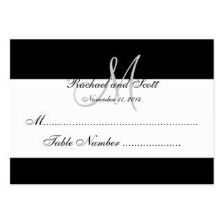 Tarjetas elegantes del asiento del boda del monogr tarjeta de visita
