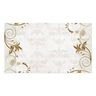 Tarjetas elegantes del lugar del boda de la caída plantilla de tarjeta de visita