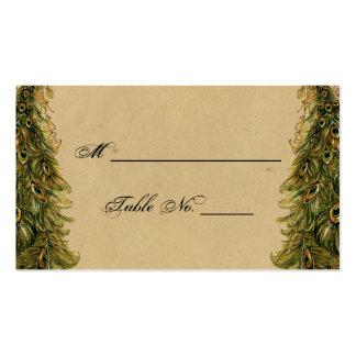 Tarjetas elegantes del lugar del boda del pavo tarjetas de visita