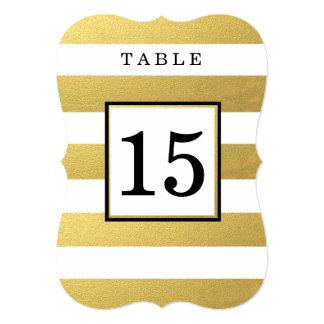 TARJETAS ELEGANTES DEL NÚMERO DE LA TABLA DEL BODA INVITACIÓN 12,7 X 17,8 CM