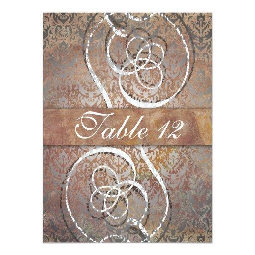 Tarjetas elegantes del número de la tabla del invitación 13,9 x 19,0 cm