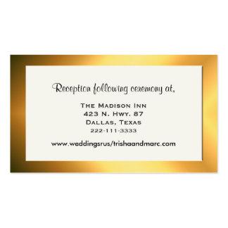 Tarjetas elegantes del recinto del boda tarjetas de visita