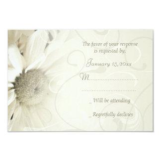 Tarjetas elegantes florales beige de RSVP que se Invitación 8,9 X 12,7 Cm