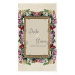 Tarjetas elegantes formales florales del asiento tarjetas de visita