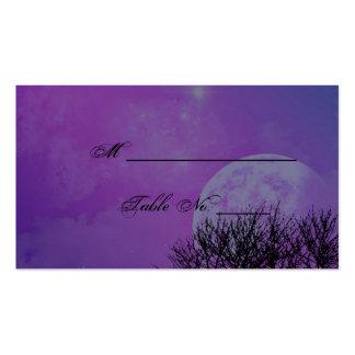 Tarjetas elegantes góticas púrpuras elegantes del  plantilla de tarjeta personal