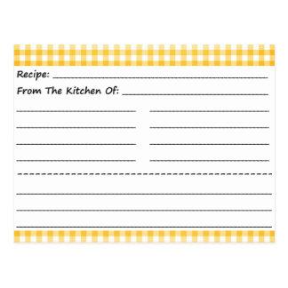 Tarjetas en blanco de la receta: Sueños de la guin Postal