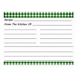 Tarjetas en blanco de la receta: Sueños de la Postal