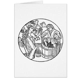 Tarjetas EN BLANCO de Stompers de la uva
