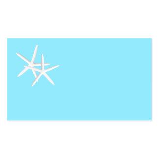 Tarjetas en blanco del lugar de las estrellas de tarjetas de visita