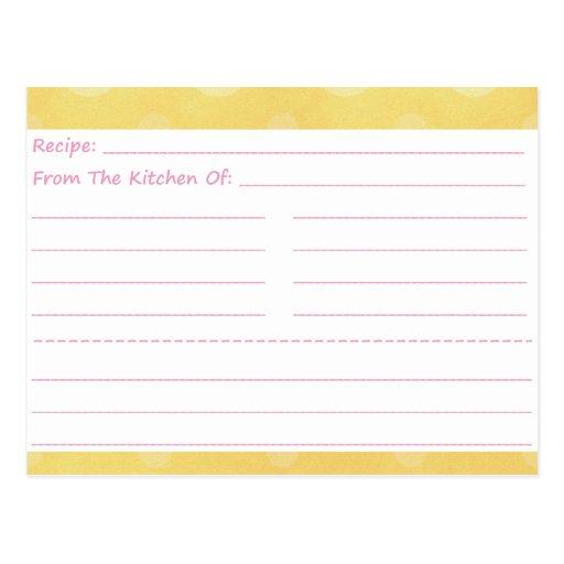 Tarjetas en blanco manchadas de la receta que van tarjeta postal