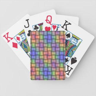 Tarjetas enormes tejidas arco iris elegante para c cartas de juego