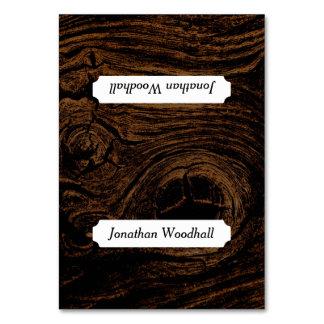 Tarjetas entoldadas del lugar del grano de madera