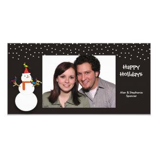 Tarjetas escarchadas y de los amigos de la foto tarjeta personal con foto