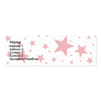 Tarjetas estupendas del perfil de la estrella tarjetas de visita mini
