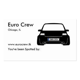 Tarjetas euro del observador de tiro del equipo tarjetas de visita