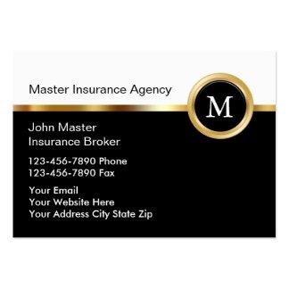 Tarjetas exclusivas del negocio de seguros tarjetas de visita grandes