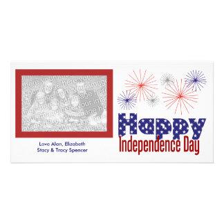 Tarjetas felices de la foto del Día de la Independ Tarjetas Fotograficas
