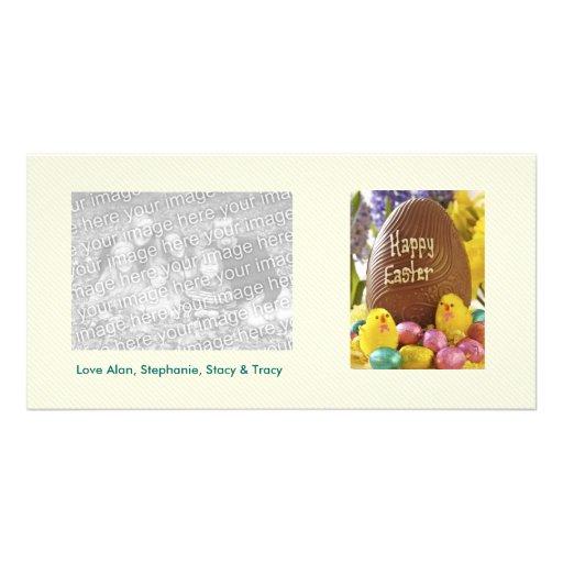 Tarjetas felices de la foto del huevo de Pascua Plantilla Para Tarjeta De Foto