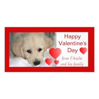 Tarjetas felices de la foto del perro del el día d tarjeta fotográfica