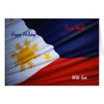 Tarjetas felices del día de fiesta de la bandera d