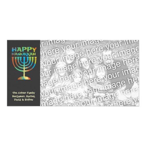 Tarjetas felices personalizadas de la foto de plantilla para tarjeta de foto