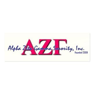 Tarjetas flacas de AZG Tarjetas De Visita Mini