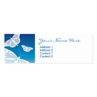 Tarjetas flacas de la mariposa blanca tarjetas de visita mini
