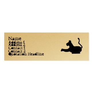 Tarjetas flacas del gato grande tarjetas de visita mini
