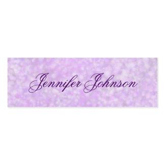 Tarjetas flacas del perfil de la acuarela púrpura  tarjeta de visita