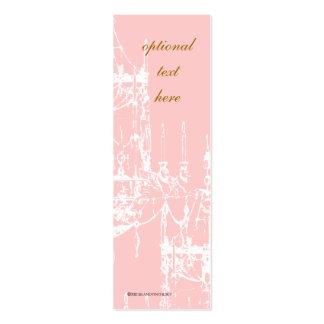 Tarjetas flacas del perfil de la lámpara elegante tarjetas de visita mini