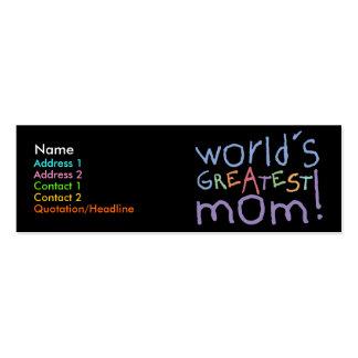 Tarjetas flacas del perfil de la mamá más grande d tarjetas de visita