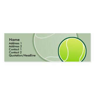 Tarjetas flacas del perfil de la pelota de tenis d plantillas de tarjetas personales