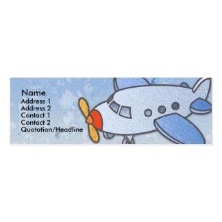 Tarjetas flacas del perfil del aeroplano del vuelo tarjetas de visita mini