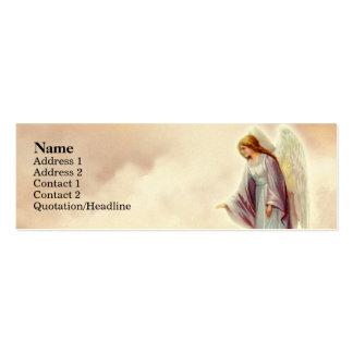 Tarjetas flacas del perfil del ángel del Victorian Tarjeta De Visita