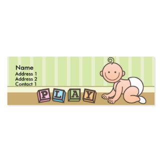 Tarjetas flacas del perfil del bebé de la hora del tarjetas de visita mini