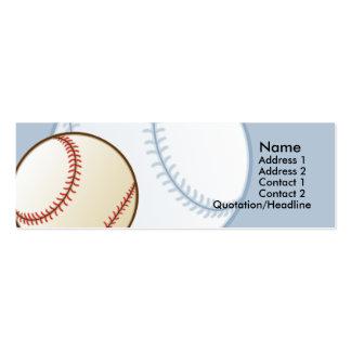 Tarjetas flacas del perfil del béisbol de los niño tarjetas de visita mini