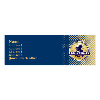Tarjetas flacas del perfil del fiesta libertario tarjeta de visita