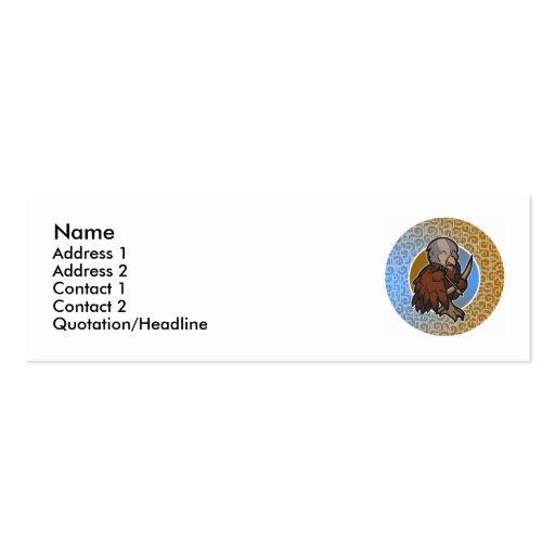 Tarjetas flacas del sagitario tarjeta de visita