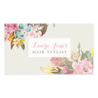 Tarjetas florales de la cita del estilista de la tarjetas de visita